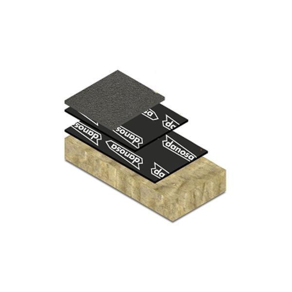 Painel Auto-Adesivo para Isolamento Acústico Danosa Sonodan Plus 65,5 dB - 40 mm x 1 m x 1,2 m