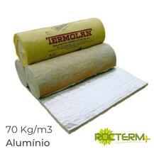 Lã de Rocha Isolamento Manta Revestida a Alumínio Rocterm MA 70 (70 kg/m3)