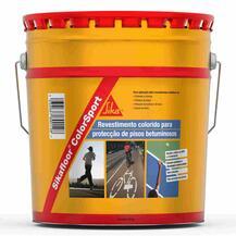 Revestimento Colorido para Proteção de Pisos Betuminosos Sika Sikafloor ColorSport