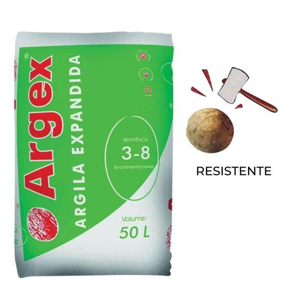 Argila Expandida Argex 3-8 50 Litros - Saco de 50 litros