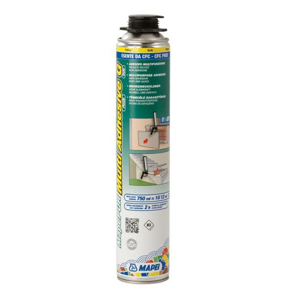 Espuma de Colagem para XPS/EPS/lã mineral/ETICS  Mapei Mapepur Multi Adhesive Foam G - Amarelo - 750 ml