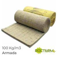 Lã de Rocha Manta Não Revestida com Rede Rocterm R 100 (100 kg/m3)